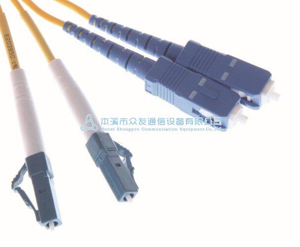 等为传输媒介的光纤跳线;按连接头结构形式可分为:fc